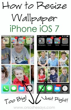 How to Resize Wallpaper on iPhone iOS 7 - Or so she says... #iphone