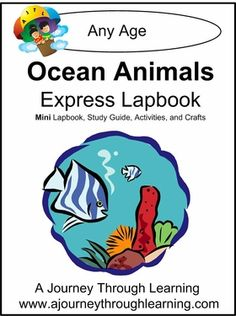 Ocean Animals Express (Quick) Lapbook is available for only $1. This is a great title for summer learning and can be completed in just a couple of days. #homeschooling #lapbooks