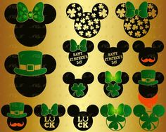 Check out our disney lucky selection for the very best in unique or custom, handmade pieces from our shops. Mickey Mouse Cookies, Mickey Mouse Head, Mickey Ears, Disney Diy, Disney Crafts, Disney Land, Valentine Crafts, Holiday Crafts, Clover Logo