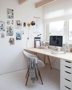 photo via Avenue Lifestyle ~ #workspace #homeoffice #interiors #decor #decoração