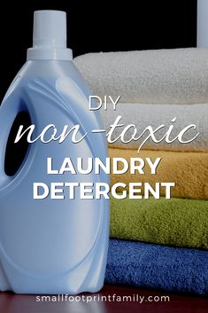 This laundry detergent recipe will not only save you money, but will help you avoid the hazardous chemicals and toxic scents found in store-bought brands. #naturalliving #diy #recipe #greenliving #ecofriendly #sustainability #gogreen #naturalliving #climatechange #laundry