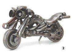 Metal motorbike sculpture created by visual artist Giannis Dendrinos. Metal engine parts and scrap metal. Motorcycle Gifts, Motorcycle Art, Modern Sculpture, Sculpture Art, Martial Arts Weapons, Metal Yard Art, Metal Artwork, Art Model, Types Of Art