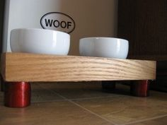 Creative Reuse 2008: Picture Frame as Raised Dog Feeder | Apartment Therapy