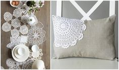Originally used to protect wood furniture from scratches, you can bring vintage chic to your home by using doilies in a modern way.