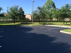 Recent #LineStriping and #Sealcoating job by the ABC Paving and Sealcoating Team! #ParkingLotMaintenance