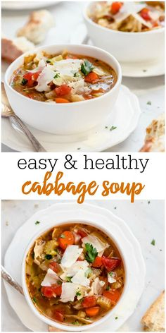 Cabbage Soup is an easy healthy soup loaded with fresh veggies Warm up with a cup of this low calorie and low carb delicious soup cabbagesoup cabbage soup healthysoup veggiesoup Healthy Eating, Healthy Soup, Healthy Recipes, Clean Eating, Healthy Foods, Free Recipes, Healthy Life, Vegetarian Recipes, Cheesy Potato Soup
