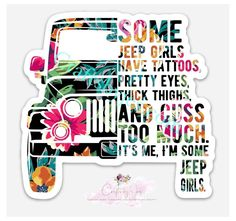 Jeep Stickers, Jeep Decals, Decals For Cars, Jeep Wrangler Stickers, Cute Car Decals, Auto Jeep, Jeep Jeep, Pink Jeep, Decal