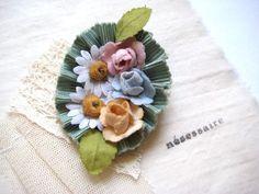 nesessaire(ネセセア)×The Snowdrop / 天使の花飾りブローチ 布花