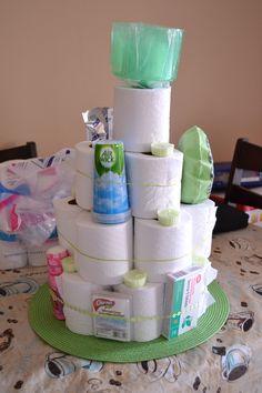 Toilet paper cake