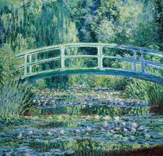 Water lilies and Japanese bridge, Claude Monet. Graph paper journal: 150 pages, x 11 inches x centimeters), diary, composition book. Water Lillies Monet, Water Lilies Painting, Lily Painting, Renoir Paintings, Impressionist Paintings, Monet Wallpaper, Van Gogh Wallpaper, Famous Art, Classical Art