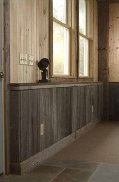 Interior Wood Walls Ideas half-wall painted wood paneling treatment. certainly more of an