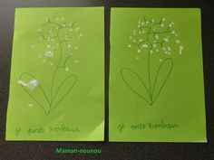 activites 1er mai - LE BLOG DE MAMAN NOUNOU Blog, Spring, Flowers, Cotton Swab, May 1, Mom, Blogging