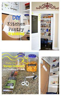 DIY Kitchen Pantry Organizing collage