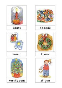 Woordkaarten 'Kerstmis' 3 Christmas Crafts, Xmas, Exercise For Kids, Creative Teaching, Primary School, Craft Activities, Sunday School, Winter, December