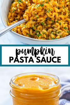 Vegetarian Pasta Recipes, Easy Pasta Recipes, Vegetable Recipes, Cooking Recipes, Healthy Recipes, Pumpkin Pasta Sauce, Canned Pumpkin Recipes, Acorn Squash Recipes, Veggie Noodles
