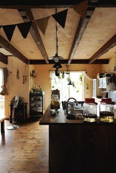 【アイジースタイルハウス】キッチン。自然のモノに包まれた居心地のいい空間