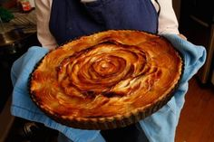Making a beautiful French apple tart like Sara Moulton's version in the SAVEUR 100 is easier than you might think. It all comes down to a simple slicing technique — one that Moulton learned during her time at New York's La Tulipe restaurant in the 1980s — in which uniform apple slices are fanned out in spirals that mimic the petals of a rose.