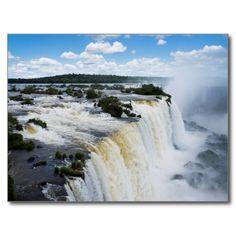 Postcard Iguaçu Falls / Trees National Park Brazil Carte Postale