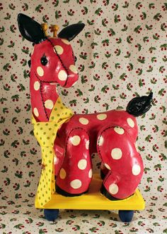 NEW  Gerry Giraffe OOAK by ImagiMeri on Etsy, $50.00