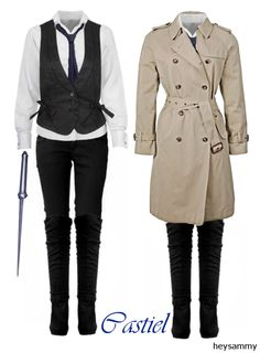 Female Castiel costume  I pretty much have everything for this already.  Well, the trenchcoat is more of a maybe, but I'm pretty sure. Can't wait to wear it!