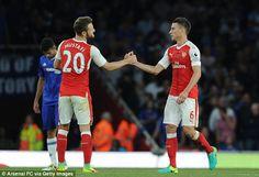 Shkodran Mustafi andLaurent Koscielny formed a solid partnership against Chelsea
