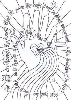Flame: Creative Childrens Ministry: Colour in prayers