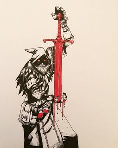 #inktober #inktober2017 Day 6 Sword #art #artist #artwork #artoftheday #art_veider #art #arts #artworks #artofinstagram #comic #comics #copic #character #characterdesign #drawing #draw #drawings #ink #instaart #red #fantasy #sakurainktober #sketch #sketchbook #sketching #sketches #sketchaday