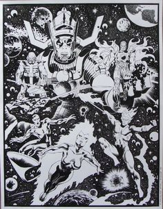 Galactus and his heralds. John Buscema