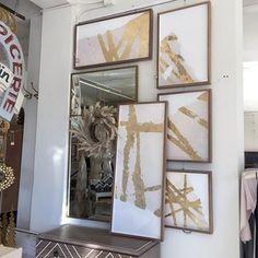 Too fabulous!! Great collection of art. #talorton #goldandwhite #intheshopnow #home #interiors #instadecor #accessories #art #wallart #local #shopsmall
