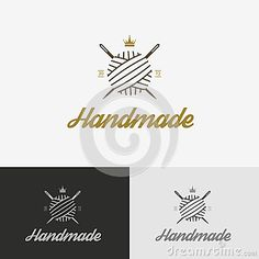 Logo, sewing shop with needle