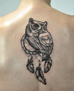 Follow me on instagram k.dumka  #Owl #tattoo #tattoos #dreamcatcher #ink #inked #drawingowl #artist #feather