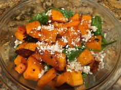 Barley and Honey Roasted Pumpkin (Butternut Squash) Salad - could easily be a main dish without any changes, but toasting a few walnuts and adding it would give you a little protein with this dish too. Roast Pumpkin Salad, Salad Recipes, Vegan Recipes, Main Dishes, Side Dishes, Chicken Breast Fillet, Plant Based Eating, Clean Eating, Squash Salad