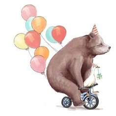 bear on bike - Google Search