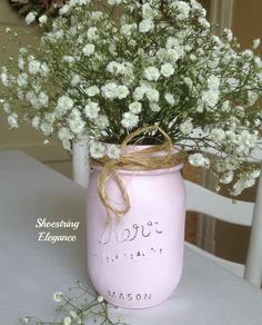 Shoestring Elegance: Chalk Painted Mason Jars~Can You Help Me?