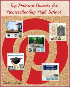 Top Pinterest Boards for Homeschooling High School from Starts At Eight