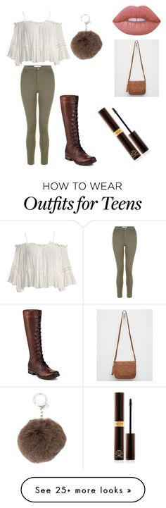 """""""Untitled #15"""" by kaylajordana03 on Polyvore featuring Sans Souci, New Look, Frye, Lime Crime, MICHAEL Michael Kors, Violet Ray and Tom Ford"""
