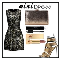 """Mini dress"" by dhanutza90baby ❤ liked on Polyvore featuring Roberto Cavalli, Tom Ford, Christian Dior and Yves Saint Laurent"