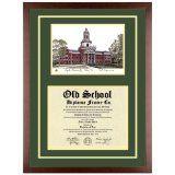 Baylor University Texas Diploma Frame with Lithograph Art PrintBy Old School Diploma Frame Co.