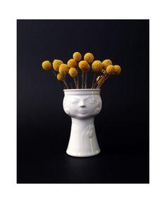 Mid Century Ceramic Lady Head Vase / Planter / Germany by SergeantSailor on Etsy https://www.etsy.com/listing/262189692/mid-century-ceramic-lady-head-vase