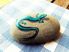 cute painted rock!