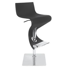 Lowest price online on Lumisource BS-VIVA COF Viva Height Adjustable Bar Stool with Swivel in Brown Leather Bar Stools, Metal Bar Stools, Modern Bar Stools, Modern Chairs, Bar Games, Kitchen Counter Stools, Adjustable Bar Stools, Bent Wood