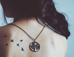 bird tattoo:    back tattoos, hip tattoos and ankle tattoos ;) if I got one like this though I'd want to make it more original, i kinda like the idea of water lilies hmm