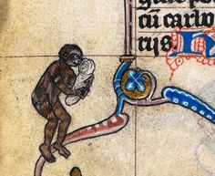 Medieval baby Tarzan, 'The Maastricht Hours', Liège 14th century (British Library, Stowe 17, fol. 189v)