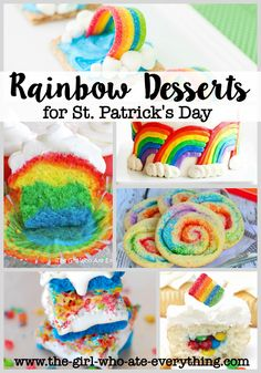 Rainbow Desserts for St. Patrick's Day