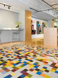 Mannington Commercial's showroom in Chicago, IL featuring the product Brushwork. #ChoicesThatWork