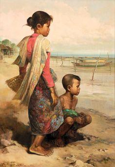 Rustamadji (Surabaya, 1932 – 1990) - Anak Nelayan, 1983.