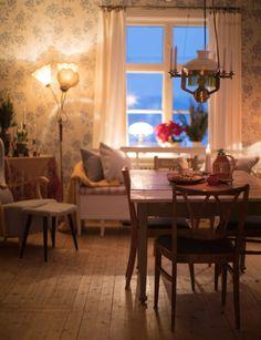 Diningroom | Wallpaper Vera | Sandberg Wallpaper