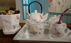 Pottery Painting, Ceramic Painting, China Clay, Ceramic Design, Ceramic Pottery, Tea Set, Tea Time, Tea Cups, Ceramics