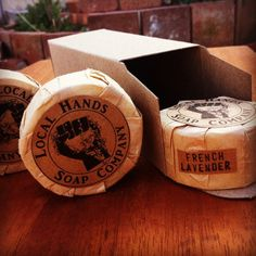 5 pack small French Lavender Soap 1.75 oz each Natural Organic Vegan by LocalHandsSoapCo on Etsy