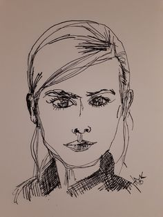 Karl M. Hausegger - Emma Watson - 12x17 cm - Tuschefeder - Signiert - 2018 - Provenienz Atelier d. Künstlers Emma Watson, Art, Atelier, Craft Art, Kunst, Gcse Art, Art Education Resources